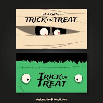 Nice halloween banners