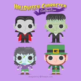 Симпатичные персонажи хэллоуина