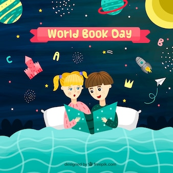 Nice hand drawn background for the world book day
