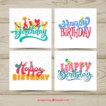 좋은 손으로 그린 생일 카드