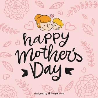 Nice hand drawn mother's day background