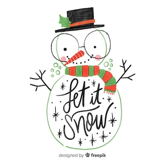 Nice hand drawn snowman lettering