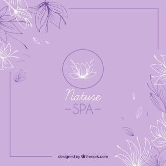 Nice hand drawn spa background