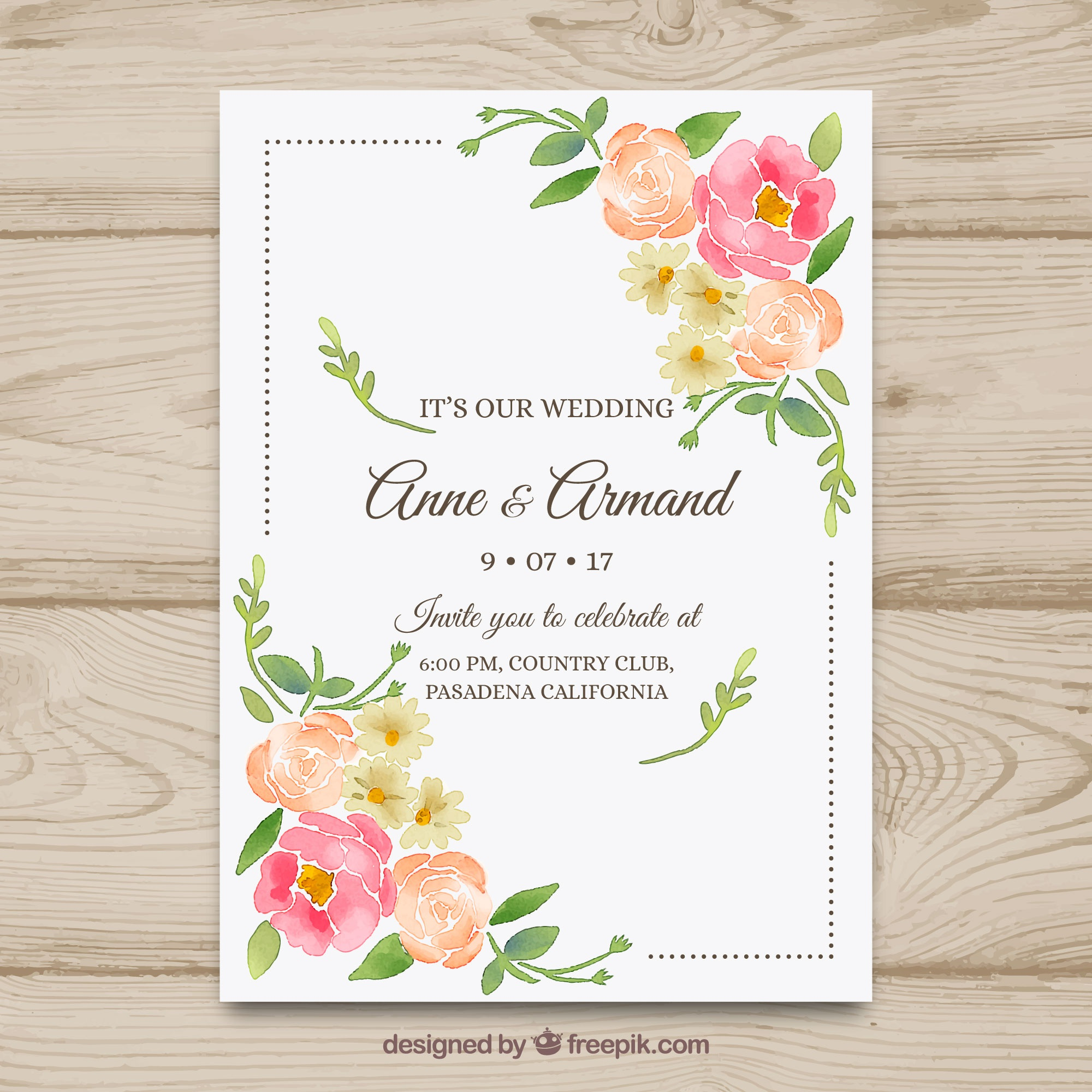 Wedding vectors 26600 free files in eps format nice hand drawn wedding invitation with flowers stopboris