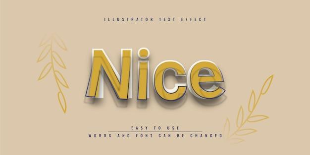 Хороший иллюстратор редактируемый текстовый эффект шаблона дизайна