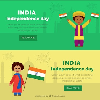 Nice india independence day banners