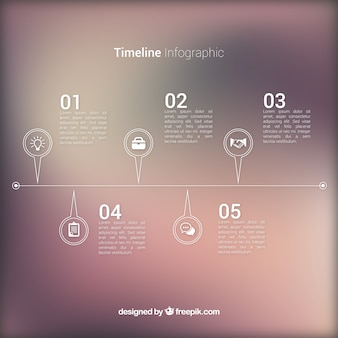 Nice infographic with blurred background