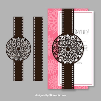 Nice invitation with ornamental design