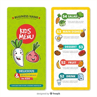Nice kids menu template