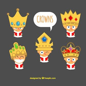 Nizza re con una grande corona