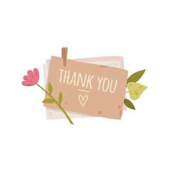 좋은 편지 엽서 개념 배경 감사합니다. 좋은 편지 엽서의 만화 그림 웹 디자인을위한 벡터 개념 배경 감사합니다
