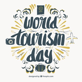 Nice lettering for the world tourism day