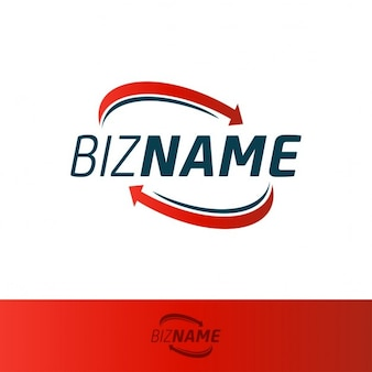 Nice logo with two red arrows Free Vector