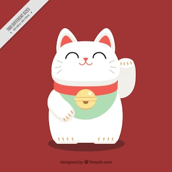 Nice maneki-neko japanese background
