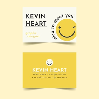 Nice to meet you business card template