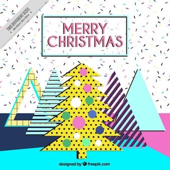 Nice memphis christmas background