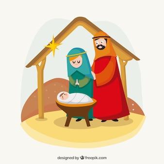 Nice nativity scene background