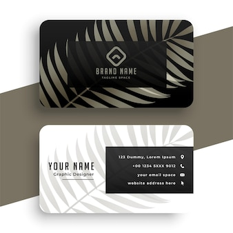 Nice nature leaves business card  template