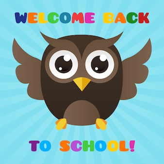 Nice owl picture to welcome students back to school