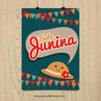 Nice party poster of festa junina