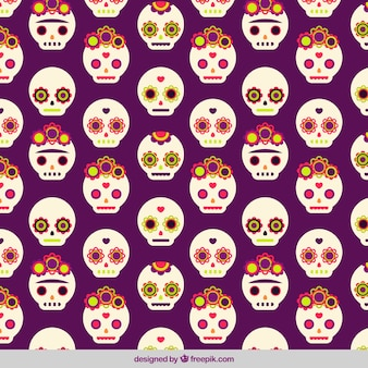 Nice pattern with decorative mexican skulls