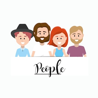 Nice people together with clothes design