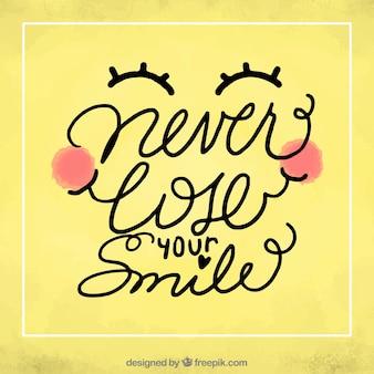 Хорошая фраза «никогда не теряй свою улыбку»