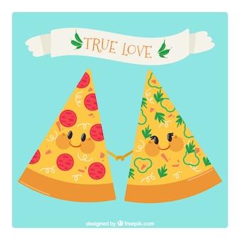 피자 배경 좋은 조각