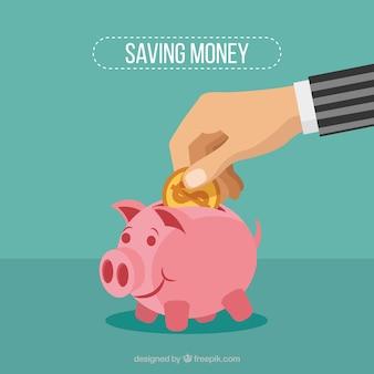 Nice piggy bank background