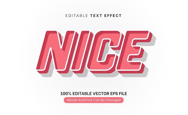 멋진 핑크 복고풍 빈티지 클래식 텍스트 효과 편집 가능한 텍스트 효과