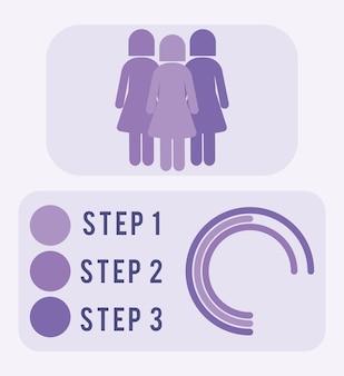단계가 있는 멋진 인구 포스터