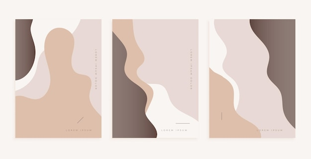 고전적인 색상의 부드러운 선이 있는 멋진 포스터 디자인