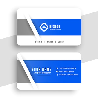 Nice professional blue business card design Free Vector