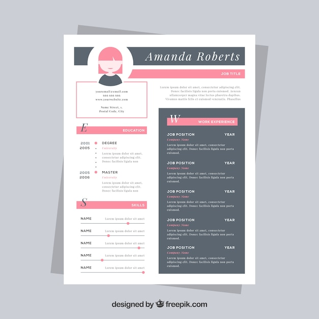 Free Nice resume template SVG DXF EPS PNG - Download Free ...