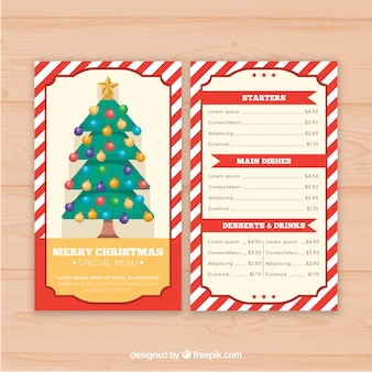 Nice retro menu of navida tree
