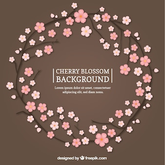 Nice sakura wreath background