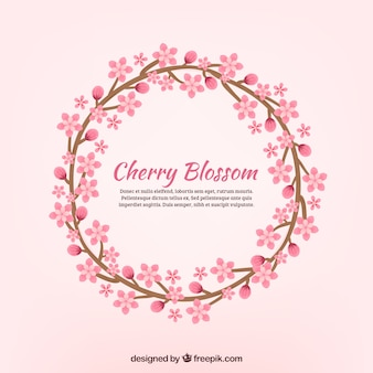 Bello sfondo di corona di sakura