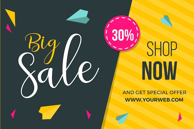 Nice sale banner template design