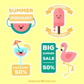 Набор ярких летних ярлыков продаж