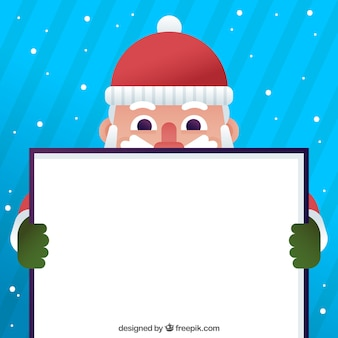 Nice santa claus background with poster