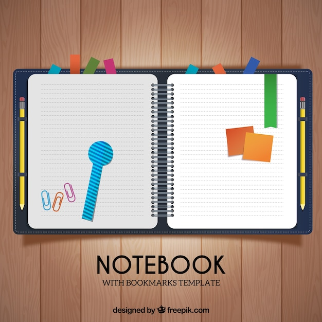 Nice schedule with notes and clips