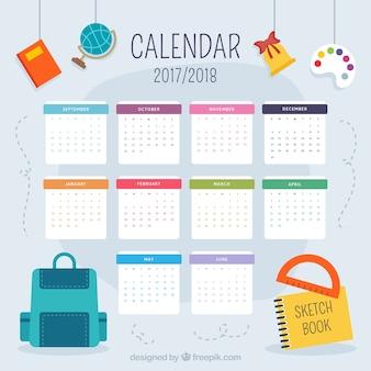 Хороший школьный календарь 2017