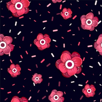 Nice seamless pattern with flora.