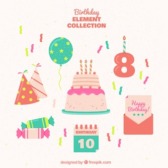 Nice set of birthday elements