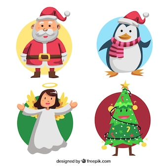 Nice set of four christmas characters