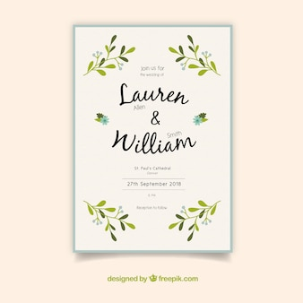 Nice simple wedding invitation