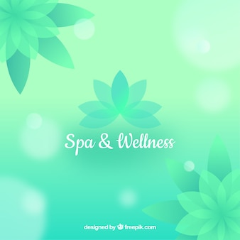 Nice spa background in flat design