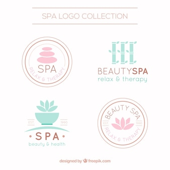 Nice spa logotype templates