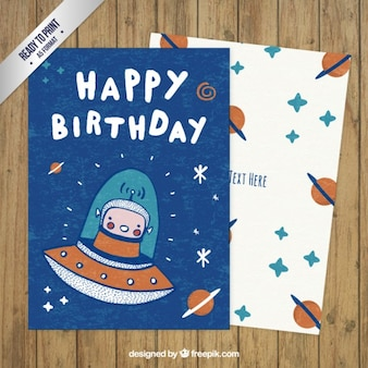 Nice space birthday card