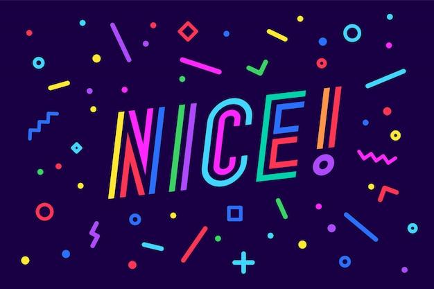 Ницца. , концепция речи пузырь, плакат и наклейка, геометрический стиль